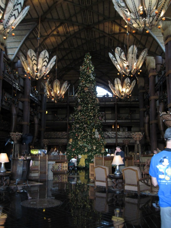 Disney Animal Kingdom Lodge Lobby at Christmas