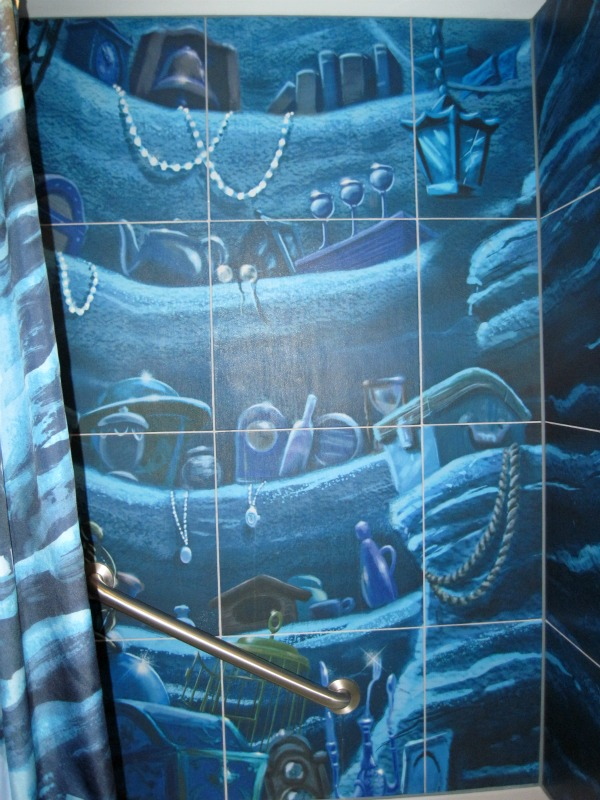 The Ariel shower curtain can be purchased at the Ink and Paint resort ...