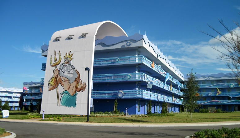 Art of Animation Little Mermaid Building