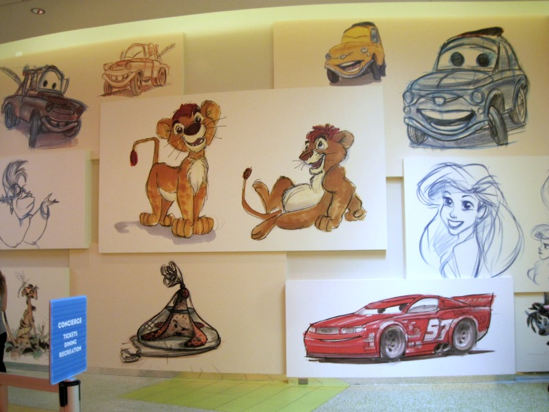 Art of Animation Resort Drawings