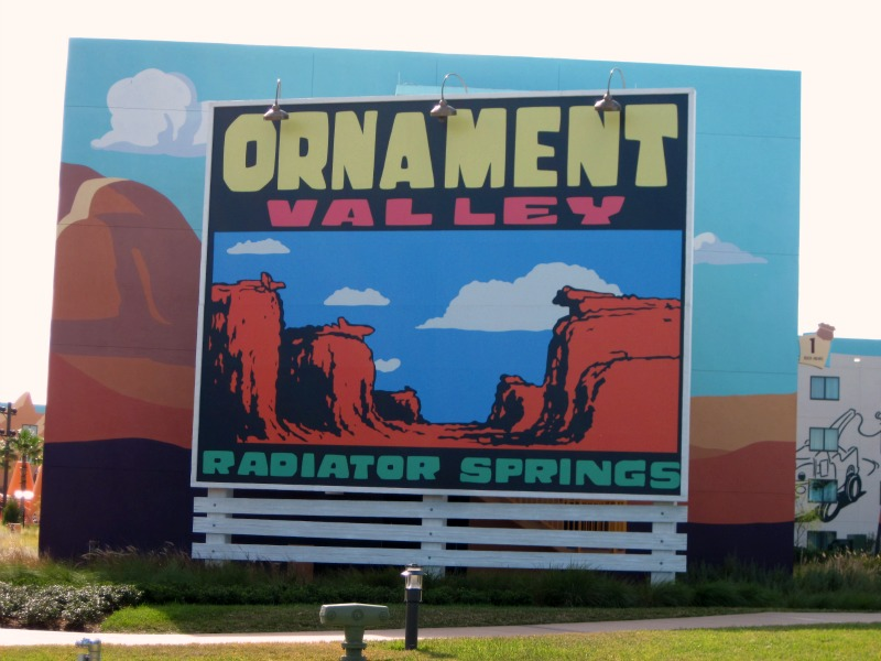 Art of Animation Ornament Valley Sign