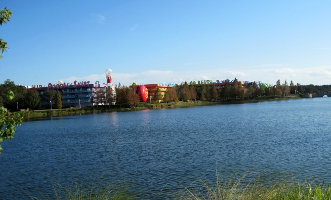 View of Pop Century from Art of Animation Resort