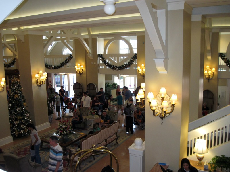 Beach Club Lobby at Christmas