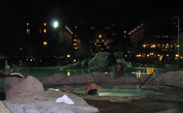 Wilderness Lodge at Night