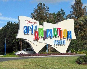 Disney Art of Animation Resort Sign