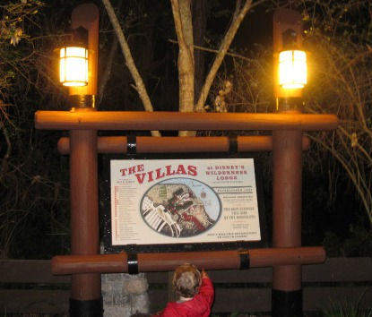 Villas at Wilderness Lodge Sign