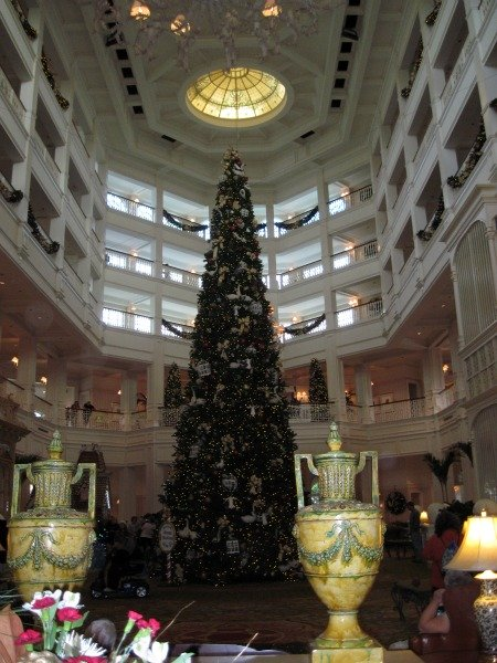 Grand Floridian Lobby at Christmastime