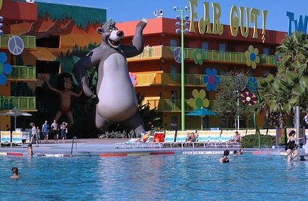 Baloo at the Pop Century Pool by Brian Marshall