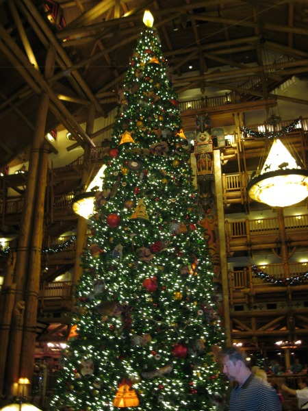 Huge Christmas Tree at Wilderness Lodge